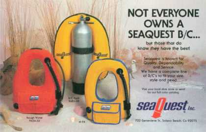 Sea Quest Buoyancy Compensator Vest (1978)