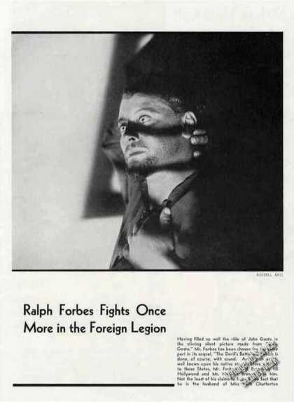 Ralph Forbes Photo By R Ball Theater Promo (1931)