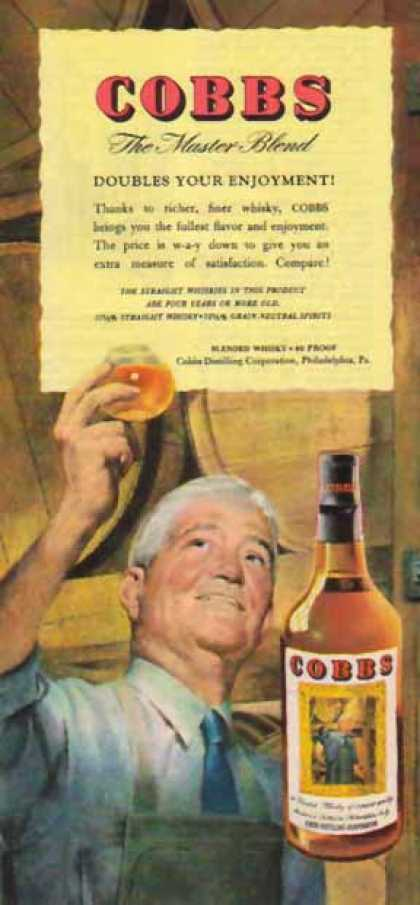 Cobbs Blended Whisky – Doubles Your Enjoyment (1947)