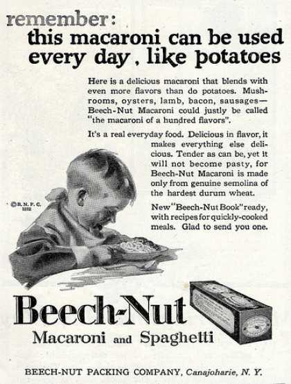 Vintage Food Advertisements of the 1920s