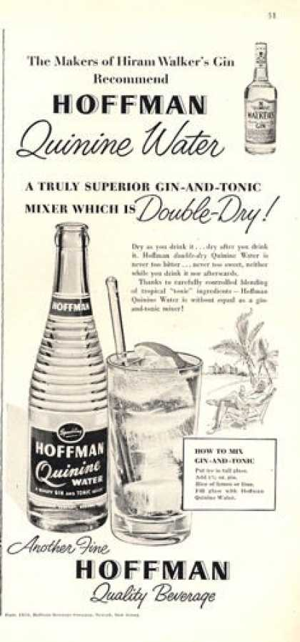 Hoffman Quinine Water Bottle (1953)