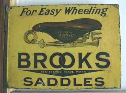 Brooks Saddles Sign