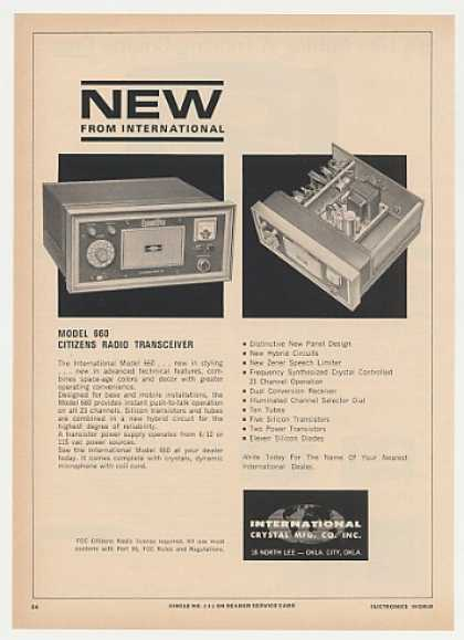 International 660 Citizens Band Transceiver (1965)
