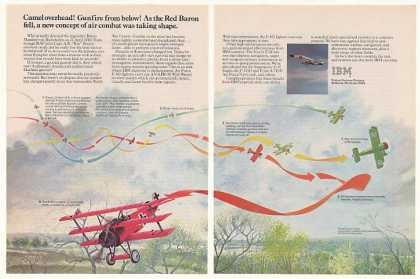 IBM Radar System 1918 Red Baron Shot Down art (1980)
