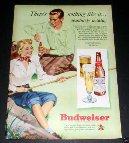 """Budweiser Beer"" Ad, Exc (1949)"