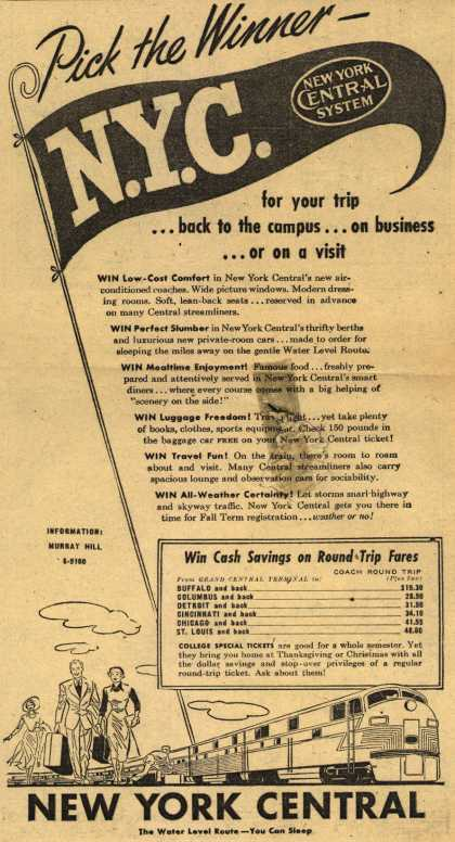New York Central System – Pick the Winner (1949)