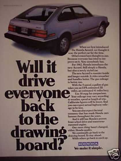 Honda Accord Hatchback Car (1982)