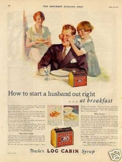 "Log Cabin Syrup Ad ""How To Start... (1927)"