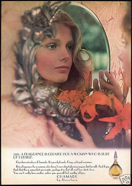 Guerlain Chamade Perfume Pretty Woman Mirror (1975)
