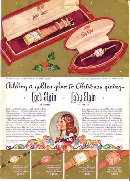 Elgin Watch Company Christmas – Sold (1940)
