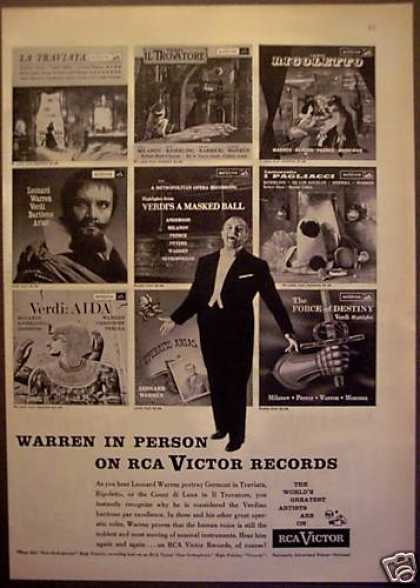 Rca Victor Records Leonard Warren (1956)