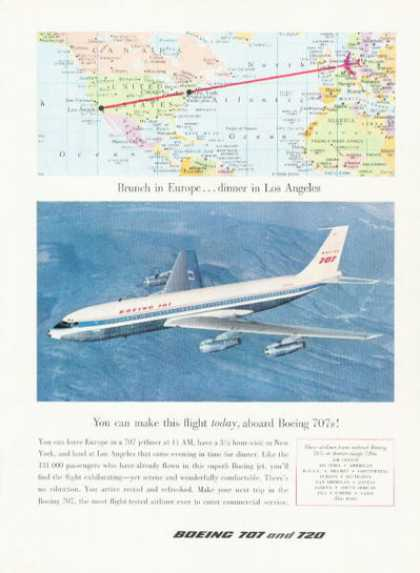 Boeing 707 720 Jetliner Plane Airplane (1959)