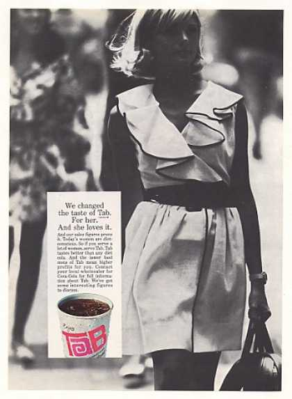 Tab Cola Changed Taste for Woman Cup Vending (1968)
