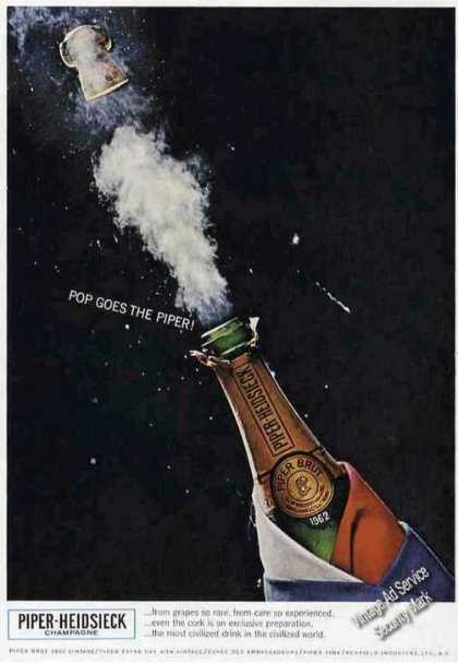 "Piper-heidsieck ""Pop Goes the Piper"" Champagne (1967)"
