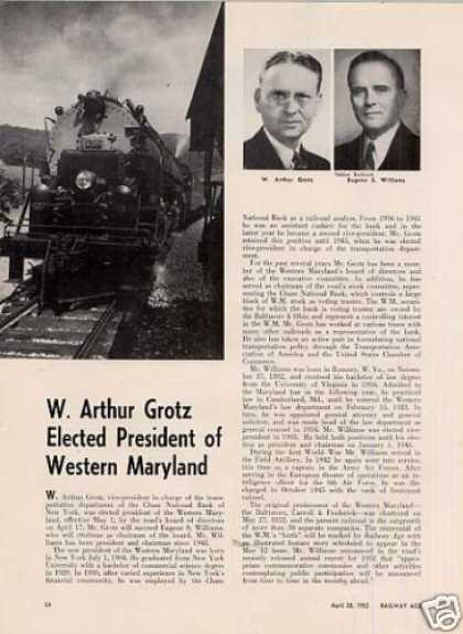 """W. Arthur Grotz Elected President of Wm"" Article (1952)"
