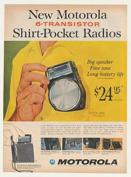 Motorola Model X-14 X-15 Shirt-Pocket Radio (1960)