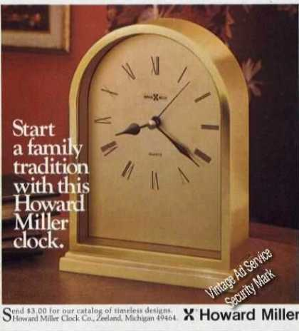 Howard Miller Clock Photo (1984)