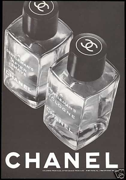 Chanel Cologne After Shave Bottle (1967)