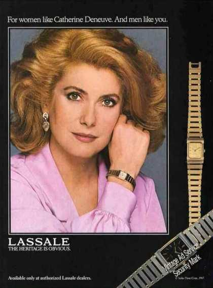 Lassale Wristwatch Photos Catherine Deneuve (1985)
