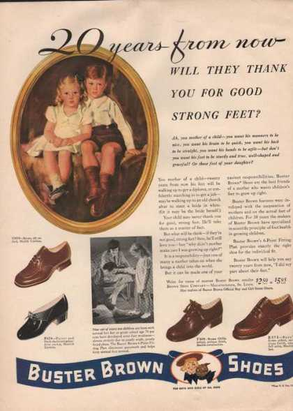 20 Years From Now Buster Brown Shoes (1941)