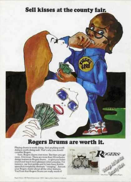 """Rogers Drums """"Sell Kisses at the Country Fair"""" (1974)"""