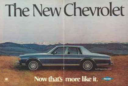 Chevrolet Caprice Classic Sedan Car – 4 page – Sold (1977)