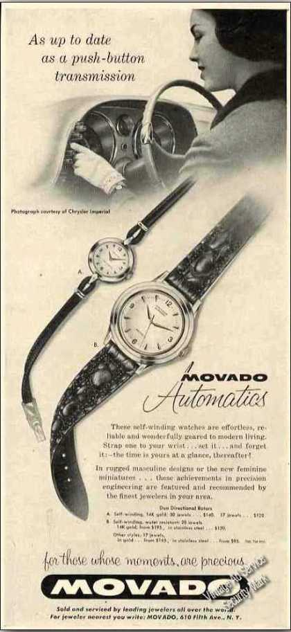 Movado Automatic Watches Collectible (1957)