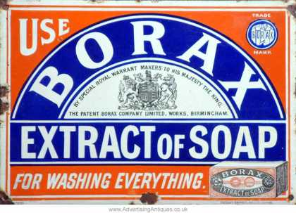 Borax Extract of Soap Sign