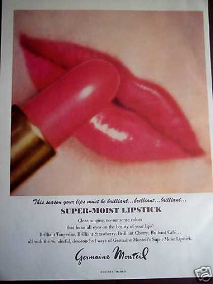 Germaine Monteil Lipstick Big Red Lips Photo (1967)