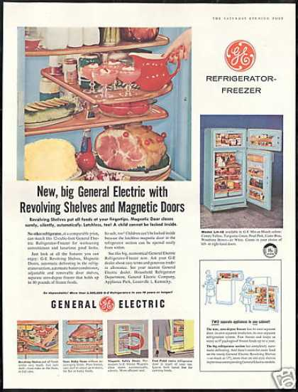 General Electric Refrigerator Revolving Shelves (1956)