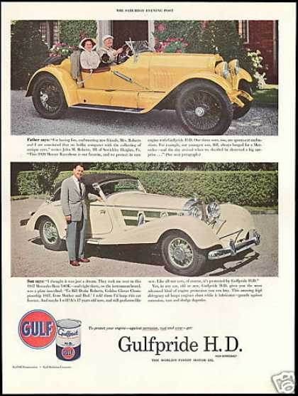 Gulf Oil 1920 Mercer Raceabout 1937 Mercedes (1954)