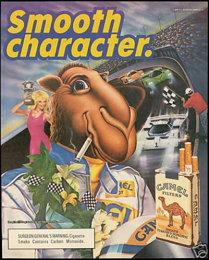 Joe Camel Cigarette Car Race Track (1989)