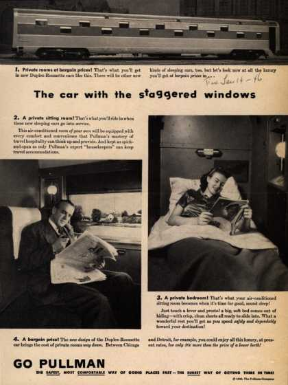 Pullman Company – The car with the staggered windows (1946)