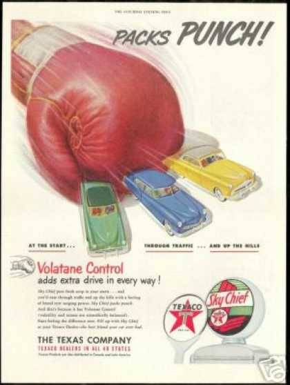 Boxing Glove Punch Texaco Gas Pump Globe (1951)