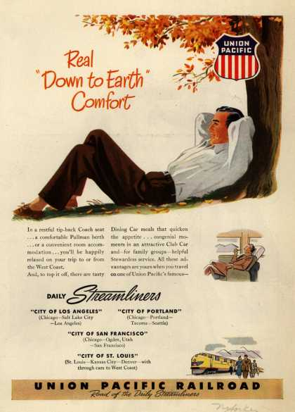 "Union Pacific Railroad's Streamliners – Real ""Down to Earth"" Comfort (1948)"