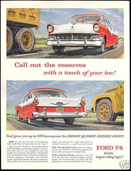 Ford Fairlane 4 Dr V-8 Engine Vintage (1956)