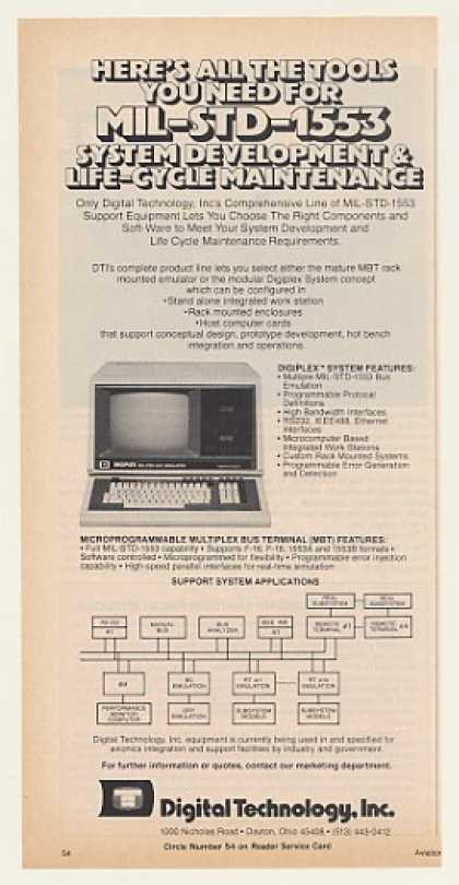 Digital Tech Digiplex MIL-STD-1553 Computer (1983)
