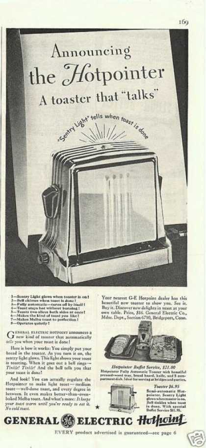General Electric Hotpoint Toaster (1935)