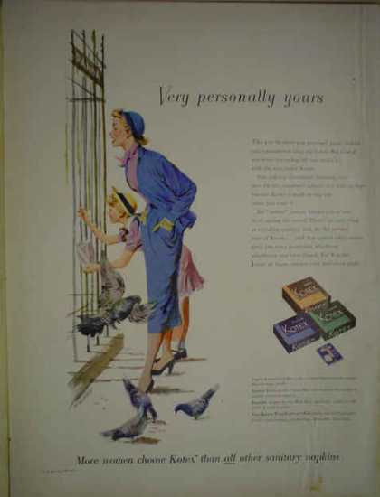 Kotex Sanitary Napkins Very personally yours (1950)