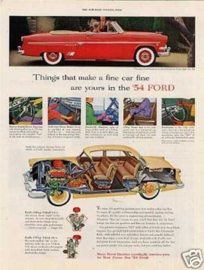 "Ford Sunliner Car Ad ""Things That Make... (1954)"