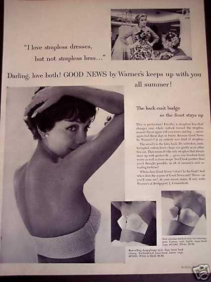 Pretty Girl In Warner's Strapless Bra (1958)