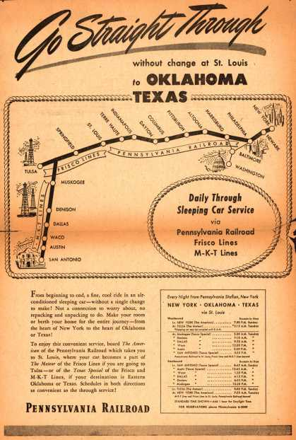 Pennsylvania Railroad's Oklahoma, Texas – Go Straight Through (1946)