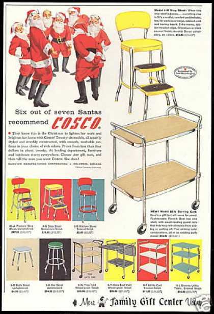 Cosco Assorted Carts Stools Santa Gift (1957)