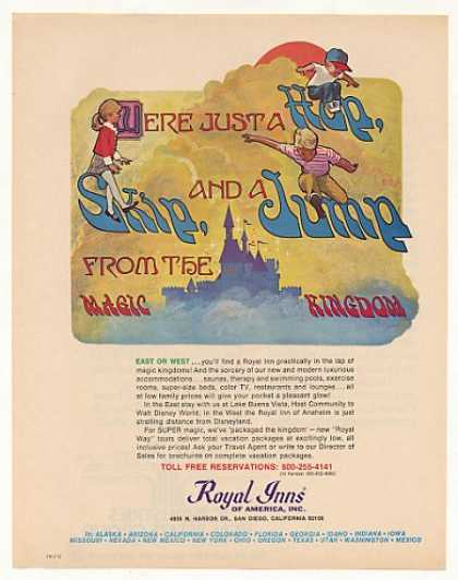 Royal Inn Near Magic Kingdom Walt Disney World (1973)