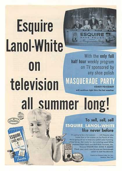 Masquerade Party TV Show Esquire Shoe Polish (1955)
