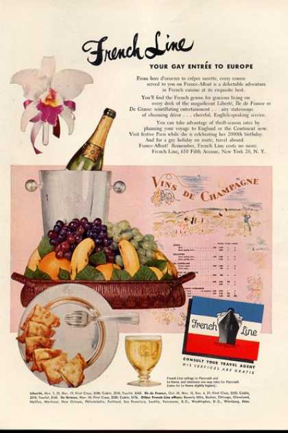 French Line Cruise Line Entree Food (1951)
