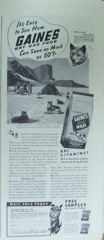Gaines Dry Dog Food (1941)