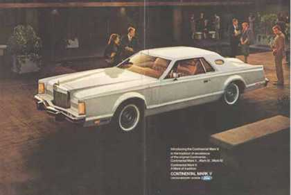 Continental Mark V Car – Lincoln Mercury Ford (1976)