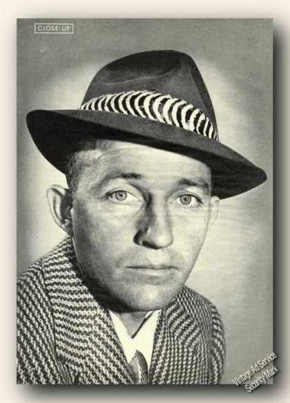 Bing Crosby Nice B&w Picture Music Collectible (1945)