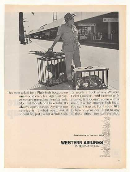 Western Airlines Flub-Stub Safari Man Animals (1967)